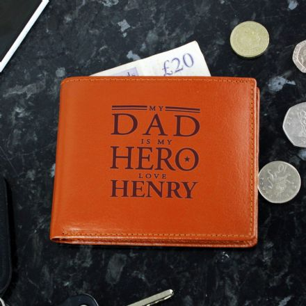 My Hero Tan Leather Wallet